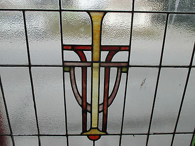 ~ Antique American Stained Glass Window ~ 44 X 36 ~ Architectural Salvage ~ 3