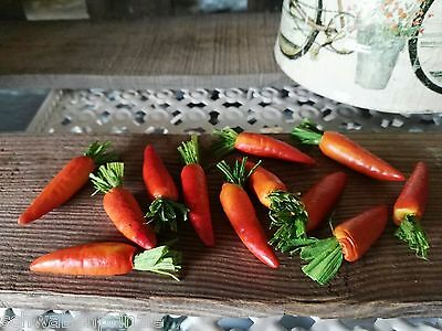 24 x Möhren Karotten Deko 4 cm Obst Attrappen Dekoration Gemüse Kunstgemüse 2
