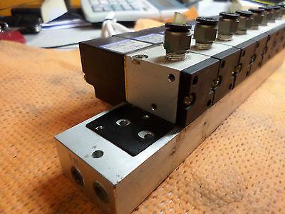 KOGANEI VACUUM VALVE MANIFOLD 8 X VALVES V100E1-SR plus Manifold - 24dc COILS