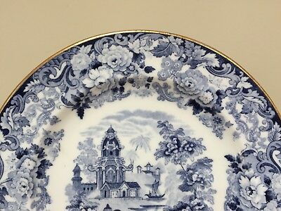 Antique Wedgwood CHINESE BLUE Etruria Luncheon Plates ~ Set of 6 3
