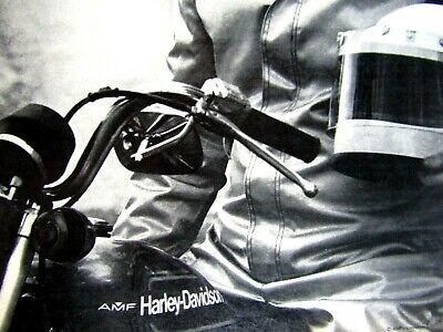 "1976 Harley Davidson Malcolm Forbes Original Print Ad 8.5 x 10.5/"""