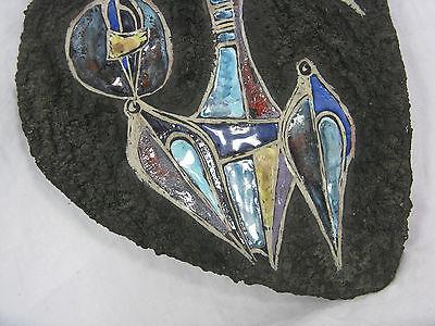 Rare 60 ´s  Marcello Fantoni design pottery bowl / Keramik Schale Italy  signed