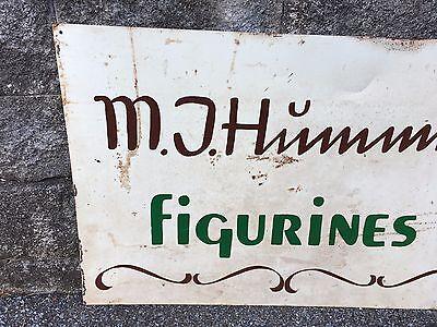 Vintage Rare M J Hummel Figurines Dealer Sign Metal Collectors German Ceramic