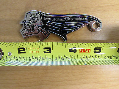 SLAYER Shaped Metal Bottle Opener Official Rare Very Solid RARE 6