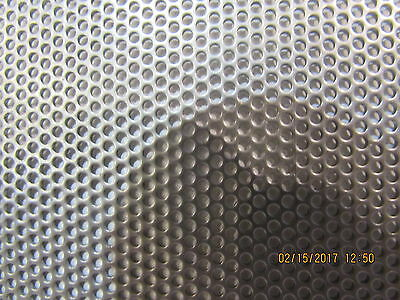 """1//4/"""" HOLES 20 GAUGE 304 STAINLESS STEEL PERFORATED SHEET- 12/"""" X 24/"""""""