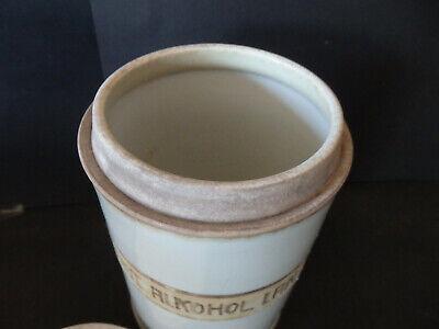 Apothekengefäß Porzellan H:ca.17,5cm Durchmesser ca. 11cm mit Deckel 3