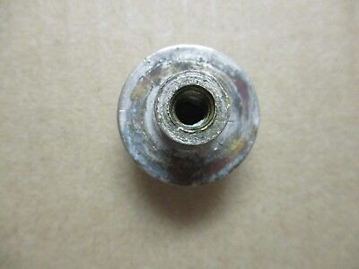 """1 Antique Porcelain Plug Button Cold Clawfoot Tub Shower Faucet 1-1/16"""" 1/4-20NC 4"""