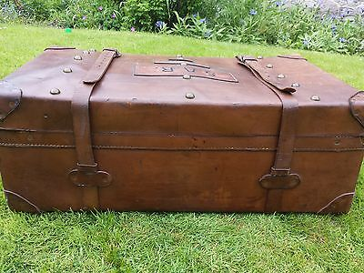 1920s Leather Steamer Trunk 2