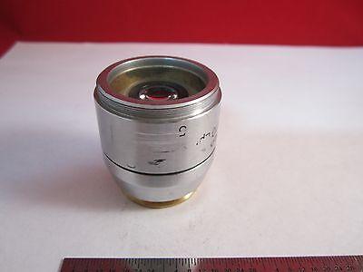 Microscope Objective Reichert Fluor 5X Polycon Epi Infinity Optiques Bin #11 DT 4