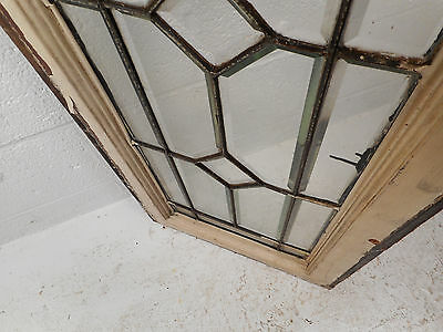 Tall Vintage Stained Glass Window Panel (1693)NJ 5