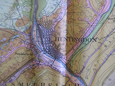 Color Soil Survey Map Huntingdon County Pennsylvania Mount Union Rockhill 1944 2