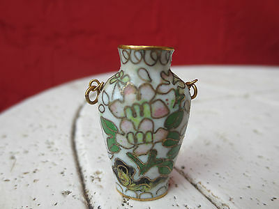 Antique Chinese  Miniature Vase Pendant Signed 4