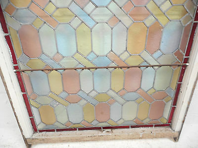 Large Vintage Stained Glass Window Panel (3103)NJ 4
