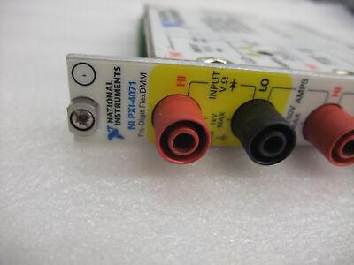 100% test National Instruments NI PXI-4071 7½-Digit FlexDMM Digital Multimeter 3