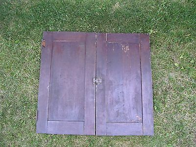 """Antique Vintage Pair Cabinet Doors from Old School Chemistry Lab 30"""" Tall 2"""