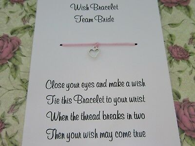 Hen Party Wish Bracelet Message Friendship Gift Pink Anklet Bride Bridesmaid* 9