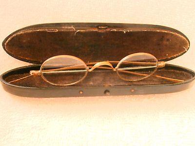 seltener Franklin Eine Bifokalbrille Einlage Brillen Etui Pappmaché! FANTASTIC