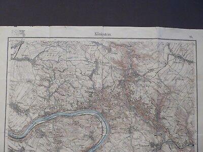 Landkarte Meßtischblatt 84 Königstein, Wehlen, Bad Schandau, Sachsen 1920