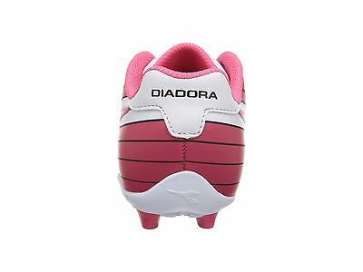 97c0db3eb8a ... Diadora Ladro MD JR Soccer Cleats Black   White   Pink Toddler Kids  Youth Sizes 4