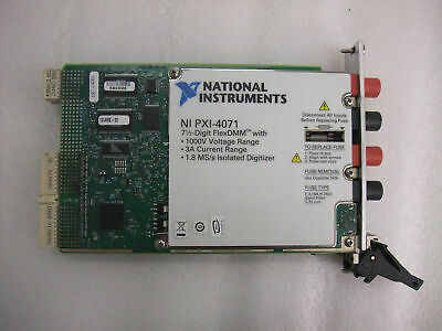100% test National Instruments NI PXI-4071 7½-Digit FlexDMM Digital Multimeter 5