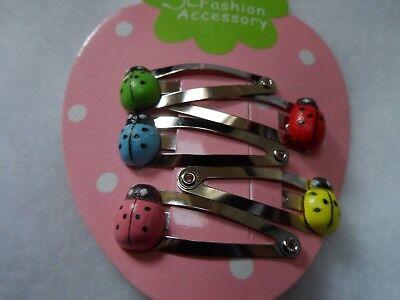 girls hair clips snap clips slides bendies hair clip mini clips baby ladybirds 5 2