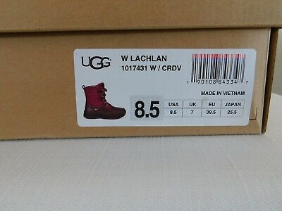 8536d221f12 NEW WOMENS 8.5 Cordovan Ugg Lachlan Snow Waterproof Leather Sheepskin Ski  Boots