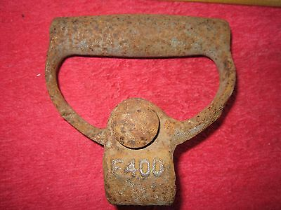 Vintage Farm Implement Iron Clamp On Handle, Steampunk