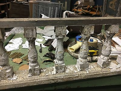"c1880 victorian porch spandrel pediment turned spindles 8""h - 11' 9"" L x 10.75"" 4"