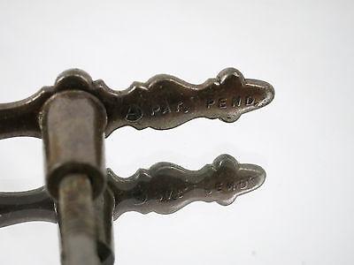 (2) Vintage Brass Dresser Drawer Cabinet Handle Pulls knob Hardware Ornate Old 6