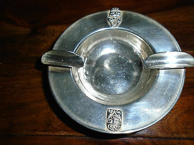 A Solid Silver (925) Art Deco Ash Tray with Incan Masks. 11