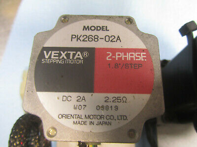 Lot of 2  Vexta 2 Phase Stepping Motor PK268-02A 1.8°/Step DC 2A 2