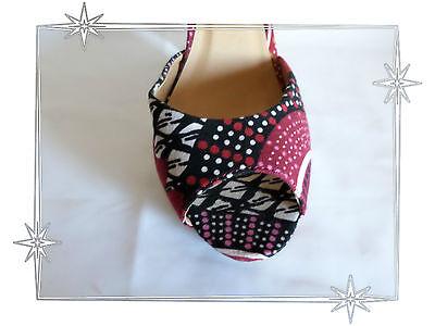 F Chaussures Sandales Nu pieds Imprimés Toile Fleurs Cable