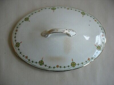 VINTAGE CROOKSVILLE CHINA STINTHAL Cov Veg dish Deco Nouveau Green orange 10
