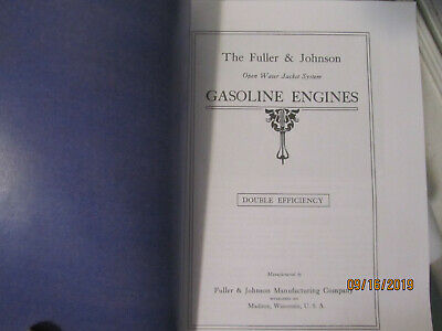1910 Fuller&Johnson Double Efficiency Gasoline Engines Catalog, all sizes 2