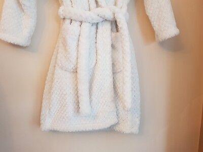 Marks & Spencer Girl's White Super Soft Dressing Gown Robe Age 7-8 Yrs 3