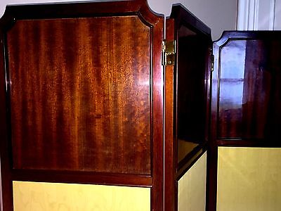 Antique ENGLISH Room Divider SCREEN ~1890s 4