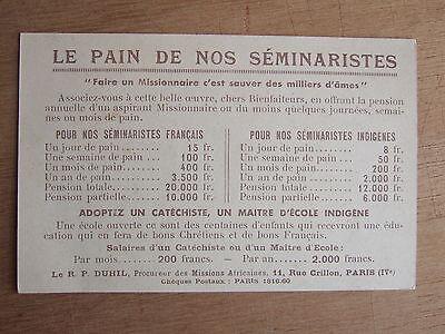 "Cpa Petit Seminaire De Nantes ""Le Pain De Nos Seminaristes"" Ecole Indigene 2"