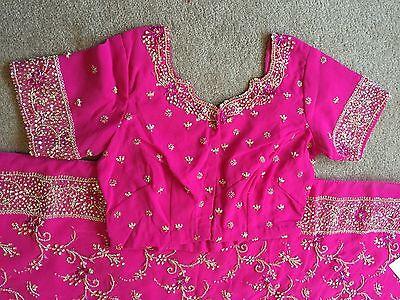 Saree- Bollywood Fashion Wedding Party Wear Heavy Designer Sari Indian Asian 7
