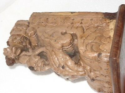 Antique Architectural Wooden Corbel redefine wall fixing Carved bird decor Q2 4