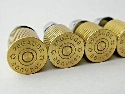 NEW 4 pk Milwaukee Twins 20 Gauge Brass Shotgun Shell Bullet License Plate Bolts 3