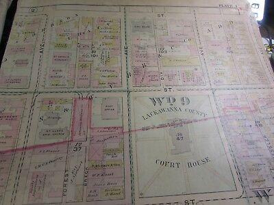 City Of Scranton - 1898 Downtown Map - Ward 8,17,9 - I.c.s, Scranton H.s. (#1) 2