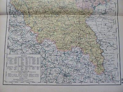 Landkarte Provinz Posen / Grenzmark, Lissa, Krotoschin, Otto Herkt um 1908