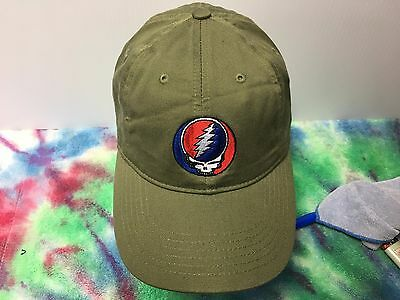 Grateful Dead Steal Your Face Embroidered Low Profile Organic Cotton Ball Cap 11