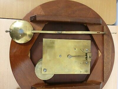 12 inch Unsigned Fusee 8 Day Drop Dial/Station/School  Mahogany Case C1880 6