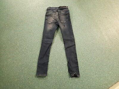 "Zara Man Skinny Jeans Waist 28"" Leg 28"" Faded Dark Blue Boys 12Yrs Jeans 3"