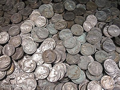 Full Date Indian Head Buffalo Nickel Coin Lot Set Mixed Date Roll 40 2