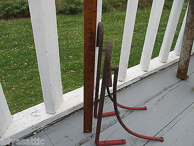 Antique 1800's  Equestrian Hand Forged Iron Tack Saddle Rack Horse 7
