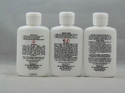 Novus 7136 #1 #2 #3 Plastic Polish Kit Cleaner Wipes 2Oz Bottle  Packaged By Us