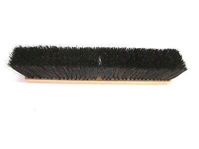 """Nos! Magnolia 18"""" A-Line Floor Brush Black Plastic 3"""" Bristles #5618-A 3"""