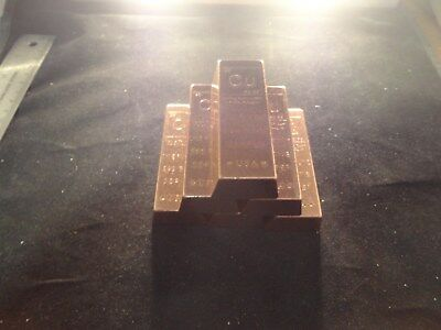 COPPER BAR 1 POUND-TRAPAZOID -SALE- Premium Bars- RANDOM DESIGN  STACKABLE-INGOT 2